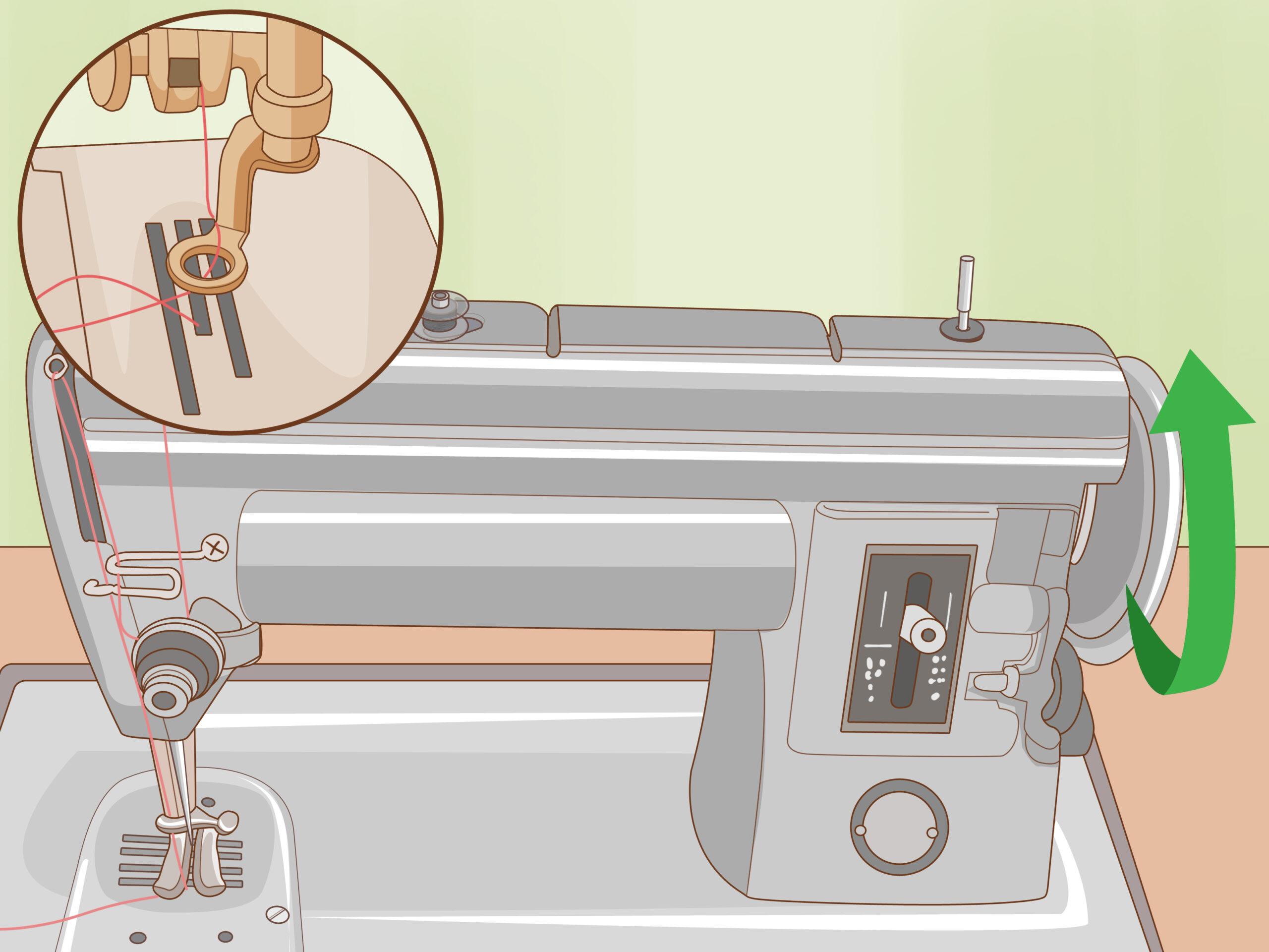 Cómo enhebrar la máquina de coser y devanar la bobina
