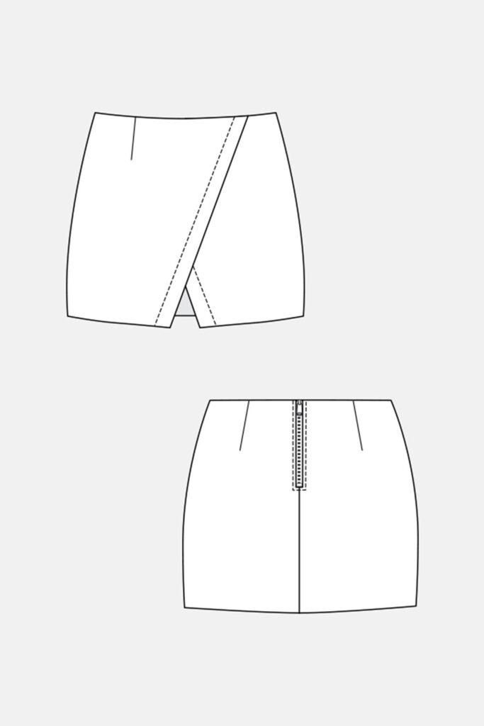 Como hacer una falda con patrones